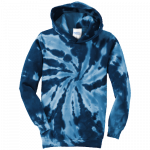 Tie Dye Navy Youth Pullover Hooded Sweatshirt