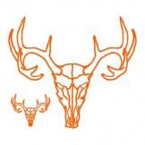 Deer Skull (Orange)