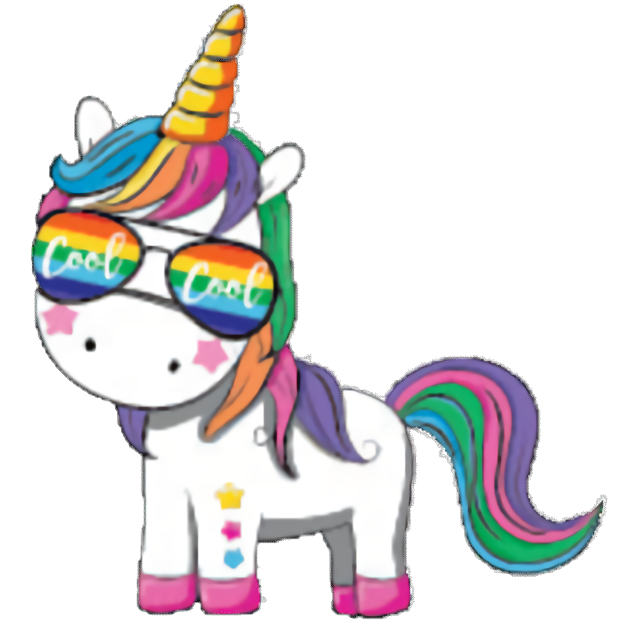 Unicorn (baby hip cool cool with sunglasses)