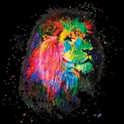 Lion (Paint Drip)