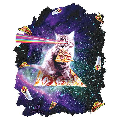 Space Pizza Cat with Burritos