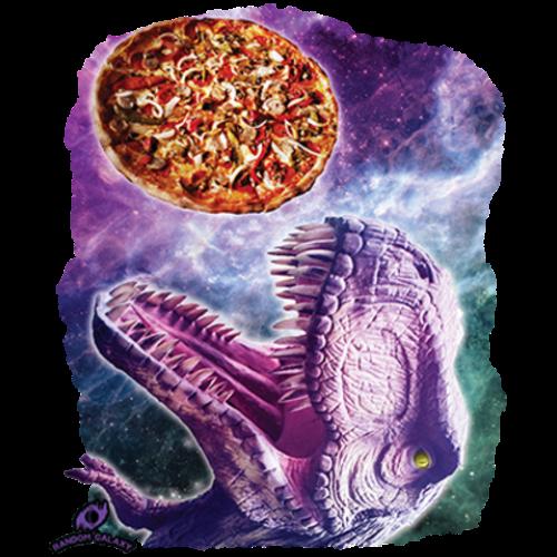 Pizza Dinosaur in Space