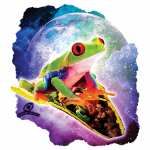 Frog Riding a Taco