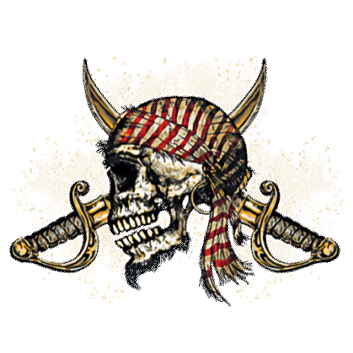 Skull (Pirate With Bandana and Swords)