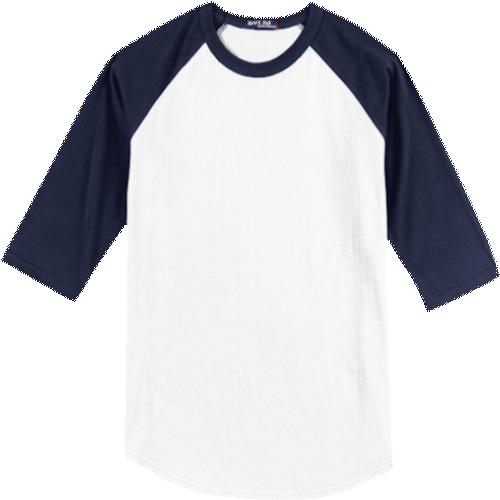 White/Navy Blue BB-Tee