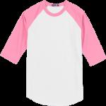 White/Bright Pink BB-Tee