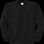 Jet Black Crewneck Sweatshirt