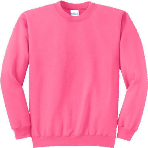 Neon Pink Crewneck Sweatshirt