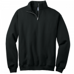 Black 1/4-Zip Cadet Collar Sweatshirt