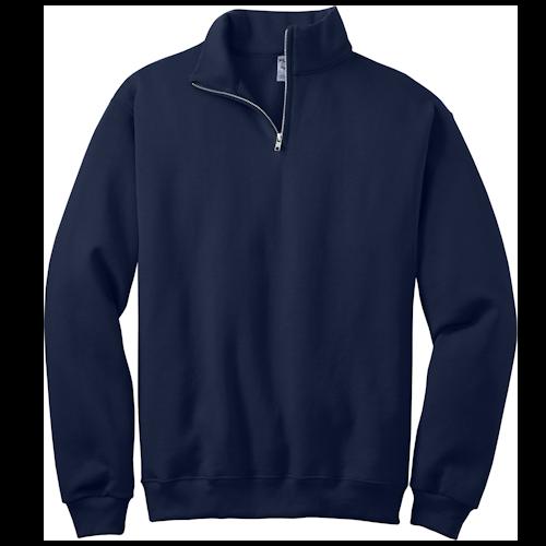 Navy 1/4-Zip Cadet Collar Sweatshirt