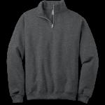 Black Heather 1/4-Zip Cadet Collar Sweatshirt