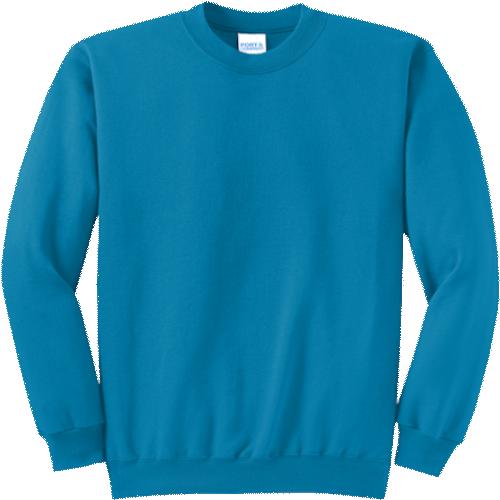 Neon Blue Crewneck Sweatshirt