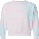 NEW Tie-Dyed (Cotton Candy) Midweight Pullover Sweatshirt