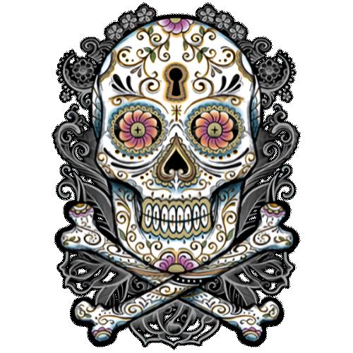 Face Mask Print (Floral Skull)