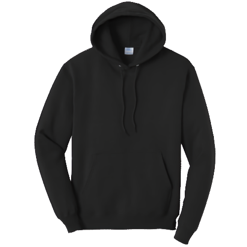 Jet Black Pullover Hooded Sweatshirt
