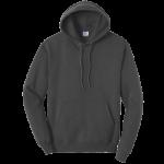 Dark Heather Gray Pullover Hooded Sweatshirt