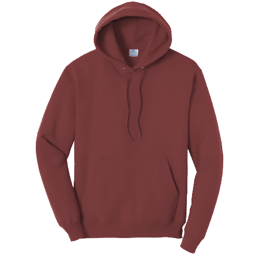Maroon Pullover Hooded Sweatshirt