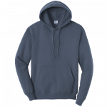 Steel Blue Pullover Hooded Sweatshirt