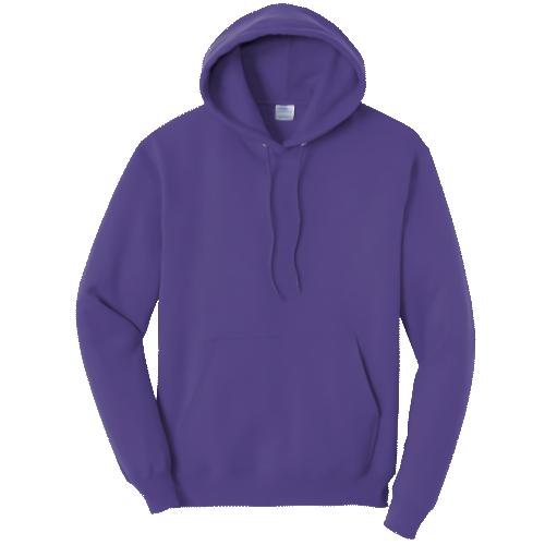 Purple Pullover Hooded Sweatshirt