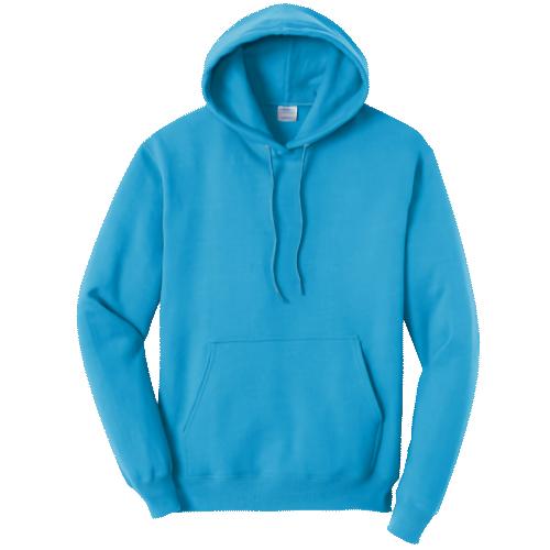 Neon Blue Pullover Hooded Sweatshirt