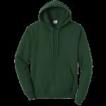 Dark Green Pullover Hooded Sweatshirt