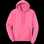 Neon Pink Pullover Hooded Sweatshirt