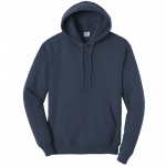 Navy Blue Pullover Hooded Sweatshirt
