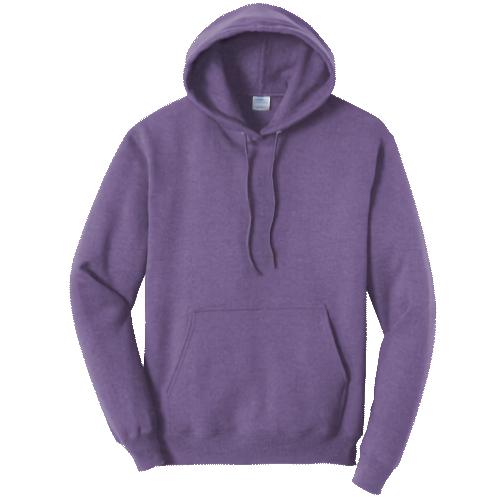 Heather Purple Pullover Hooded Sweatshirt