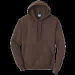Heather Dark Chocolate Brown Pullover Hooded Sweatshirt