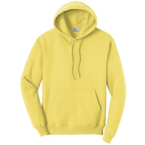 Yellow Pullover Hooded Sweatshirt
