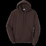 Dark Chocolate Brown Pullover Hooded Sweatshirt