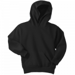 Jet Black Youth Pullover Hooded Sweatshirt
