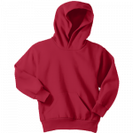 Red Youth Pullover Hooded Sweatshirt
