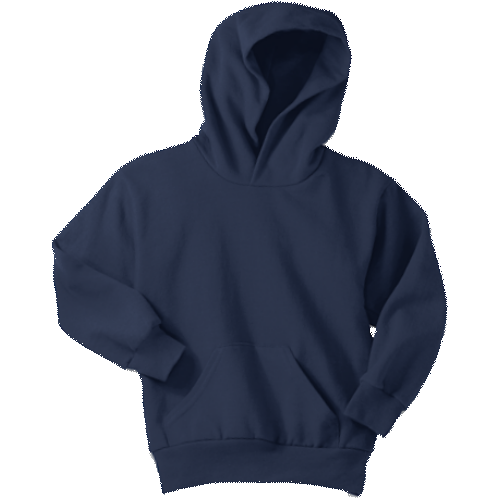 Navy Blue Youth Pullover Hooded Sweatshirt