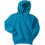 Neon Blue Youth Pullover Hooded Sweatshirt