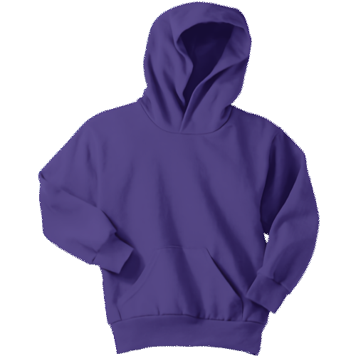 Purple Youth Pullover Hooded Sweatshirt