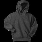 Dark Heather Gray Youth Pullover Hooded Sweatshirt