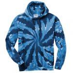 Navy Tie-Dye Pullover Hooded Sweatshirt