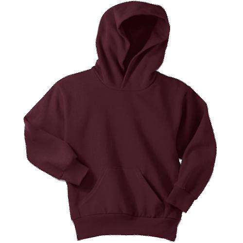 Maroon Youth Pullover Hooded Sweatshirt