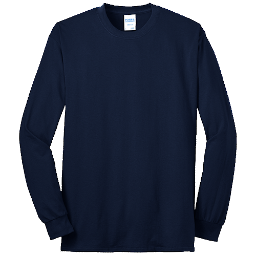 Navy Blue Long Sleeve Tee
