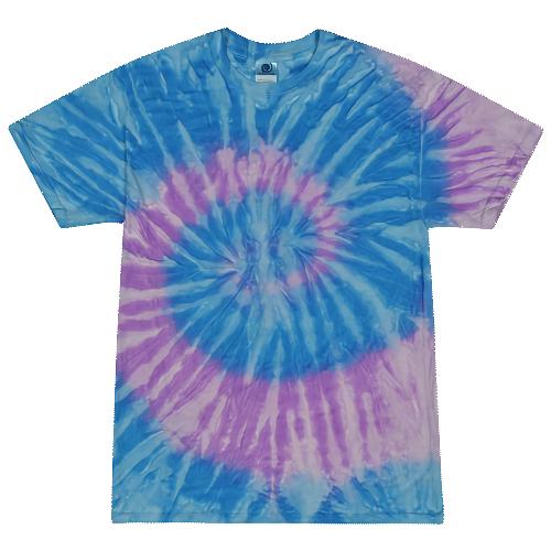 Spiral Lavender Blue Adult Tie-Dye T-Shirt