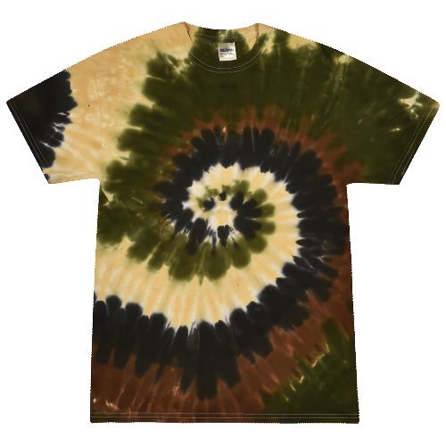 Camo Swirl Adult Tie-Dye T-Shirt