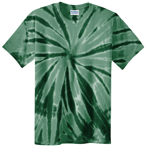 Forest Green Adult Tie-Dye T-Shirt