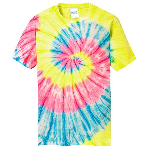 Neon Rainbow Adult Tie-Dye T-Shirt