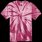 Maroon Adult Tie-Dye T-Shirt