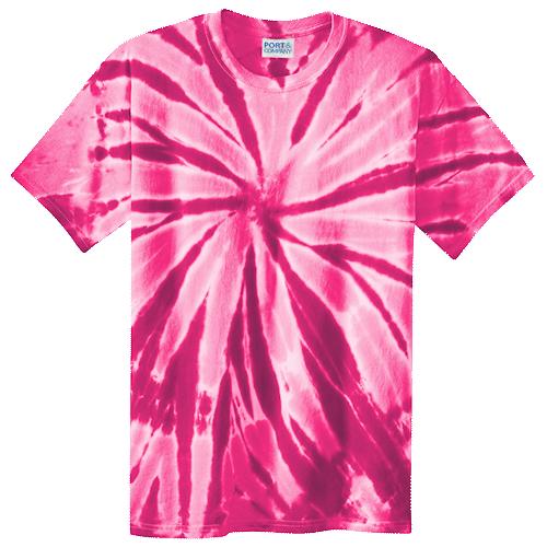 Pink Spiral Adult Tie-Dye T-Shirt
