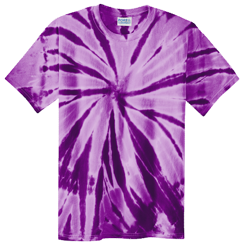 Purple Spiral Adult Tie-Dye T-Shirt