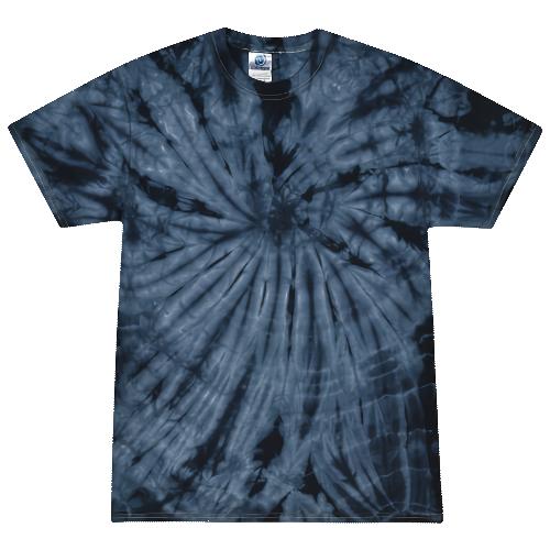 Spider Navy Blue Adult Tie-Dye T-Shirt