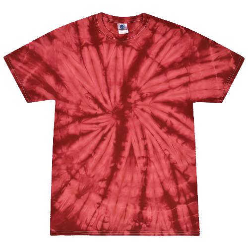 Spider Crimson Adult Tie-Dye T-Shirt