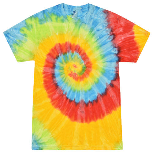 Pastel Neon Adult Tie-Dye T-Shirt